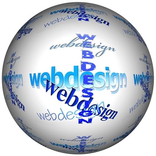 globe with webdesign wording | wordpress website | Peace Evolution