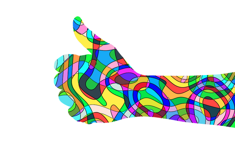 psychedelic thumbs up | small business | Peace Evolution