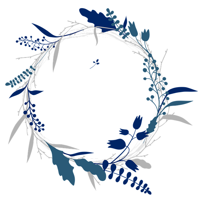 blue and silver floral ring | accept the other person | Peace Evolution