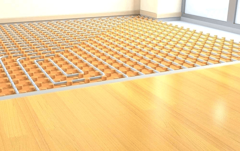 hydronics radiant heating and cooling under floor piping | Peace Evolution