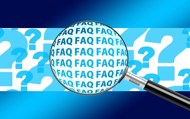 magnifying glass indicating faq frequently asked questions | practice water fasting | Peace Evolution