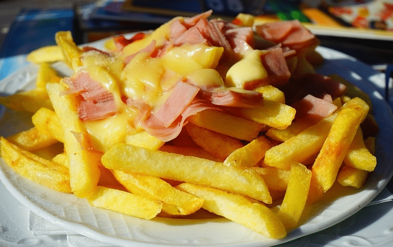 plate of chips meat and cheese | health problems | Peace Evolution