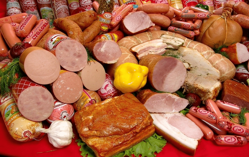 processed sausage meat products | processed food | Peace Evolution