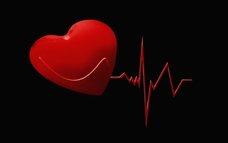 red heart with heart beat depiction | health problems | Peace Evolution