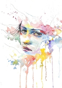 water colour portrait of woman | life awareness daydreams | Peace Evolution